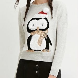 Forever 21 Cute Penguin Ugly Christmas Sweater M